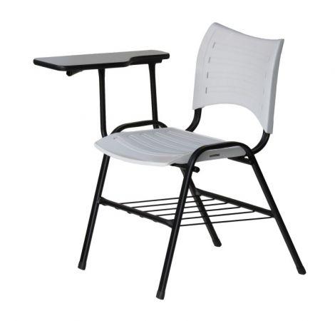 Cadeira iso universitária com prancheta lateral