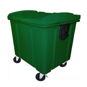 Container 1000L com tampa e rodízio